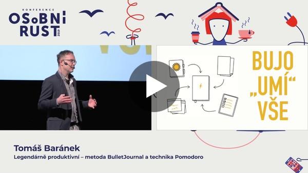 Metoda BulletJournal a Technika Pomodoro na Osobním růstu 2019 v podání Tomáše Baránka