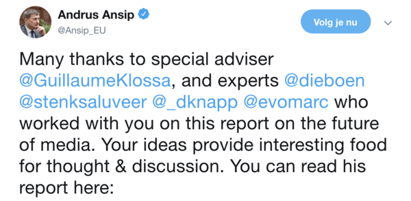 Andrus Ansip on Twitter