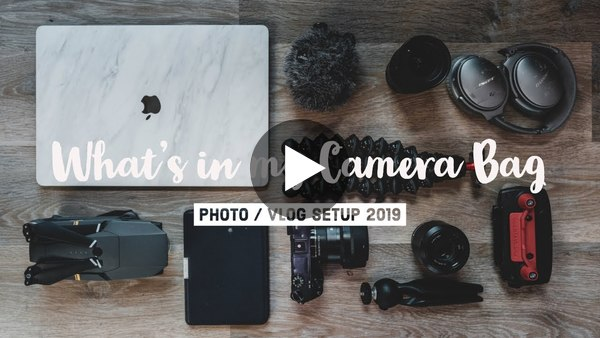 What's in my Camera Bag - My vlog + photography travel gear (2019)