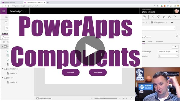 Intro PowerApps Components including Input and Output properties