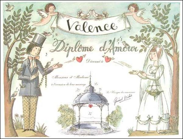 The 'Love Diploma' from Peynet