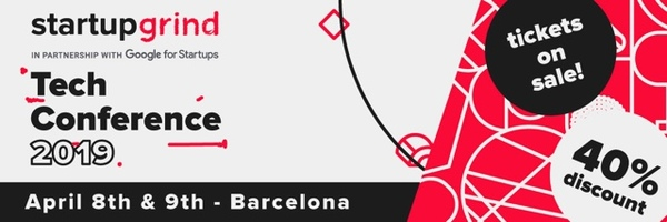 Get inspired and get connected at Startup Grind Barcelona 2019! Save 40% on tickets with the code: BarcinnoRocks
