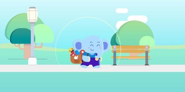 Jumbo's elephant mascot