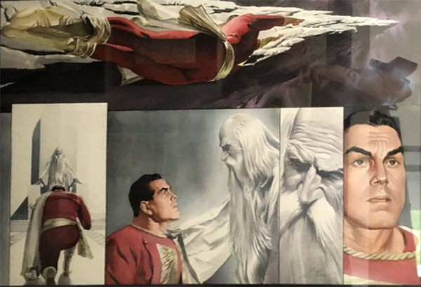 Alex Ross - Captain Marvel Original Comic Art