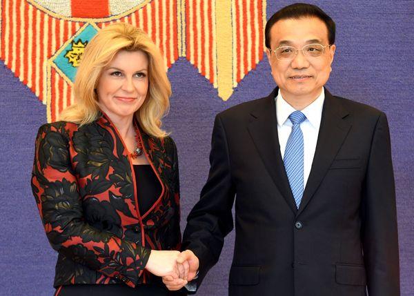 De Chinese premier en de Kroatische president