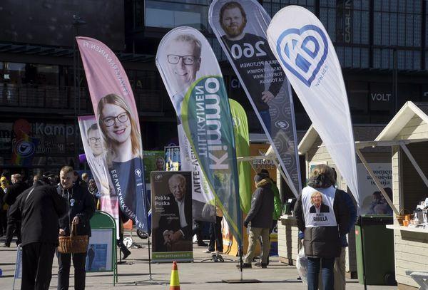 De Finse partijen hebben volop campagne gevoerd