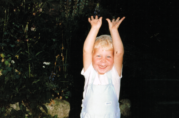 This picture of me aged 3 always cheers me up.
