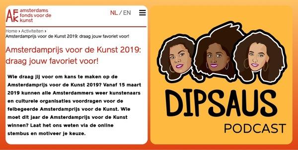 Nomineer Dipsaus voor de Amsterdamprijs voor de Kunst 2019!