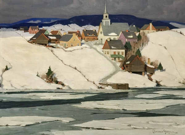Spring Thaw Quebec Village by Clarence Gagnon 1934