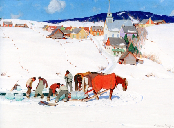 The Ice Harvest by Clarence Gagnon 1935