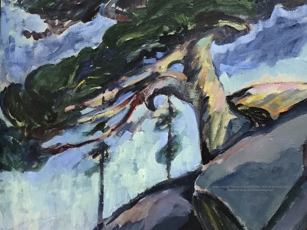 detail (untitled) Tree on Rocky Profile by Emily Carr 1922-25