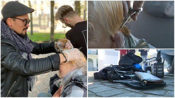 Des coiffeurs offrent leurs services aux sans-abri - Kappers ten dienste van daklozen