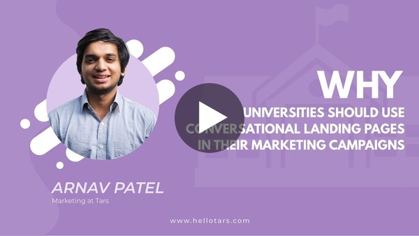 Why Universities Should Use Conversational Landing Pages in Their Marketing Campaigns
