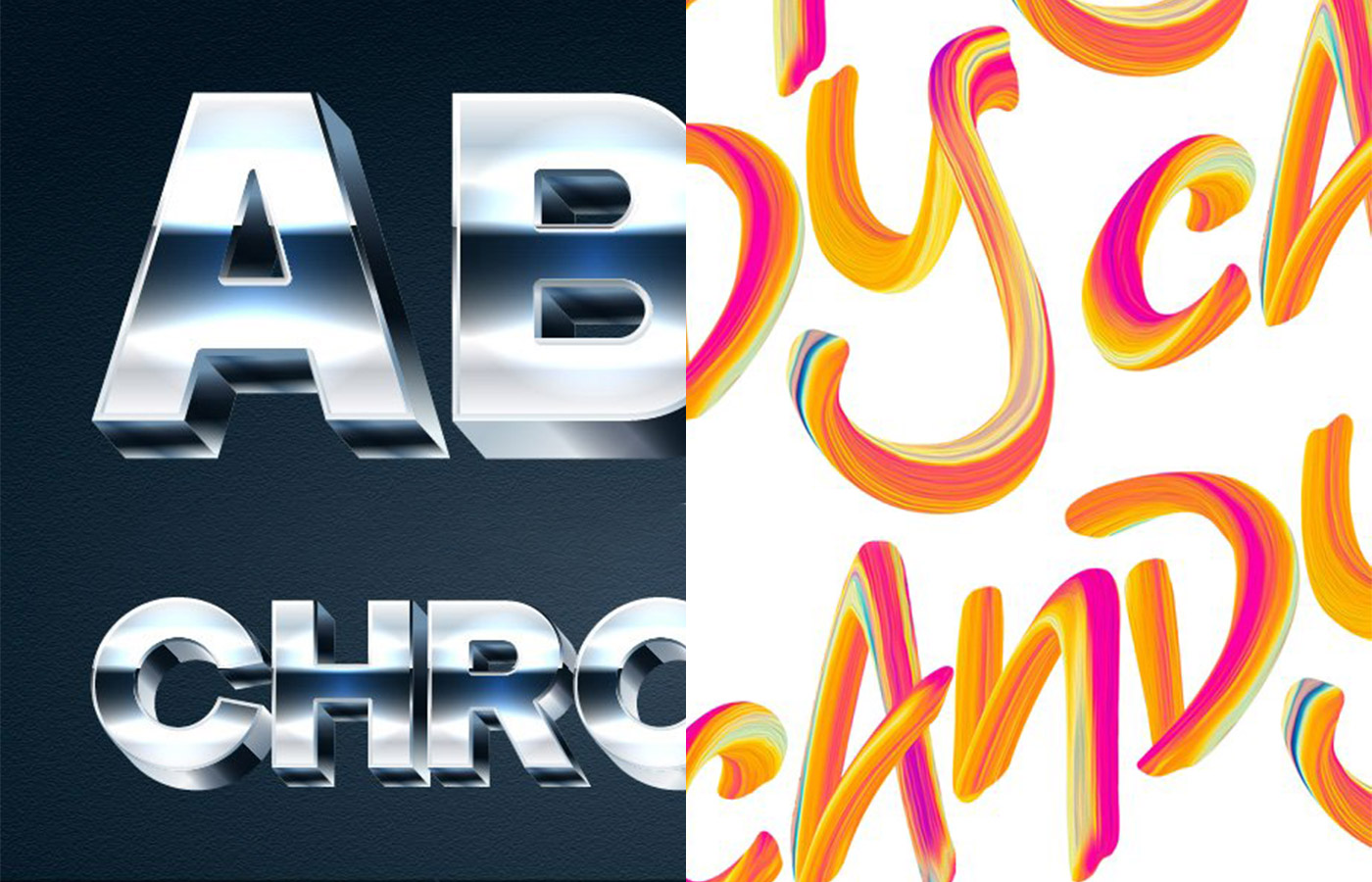 Silver Chrome (popskraft) / Candy Script (Twinbrush Image Forge)