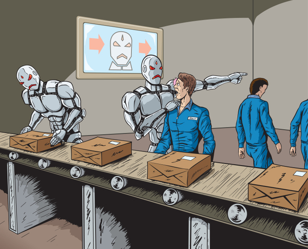 The fear of a robot take-over (Credit: inverse)