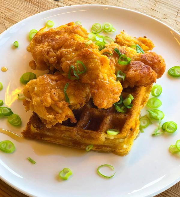 Klik hier voor het recept van Chicken & Waffles