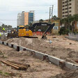 Drainage improvements are underway on Highway 98 in Destin