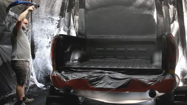 Restylers shows off the entire process of Rhino Lining a truck bed