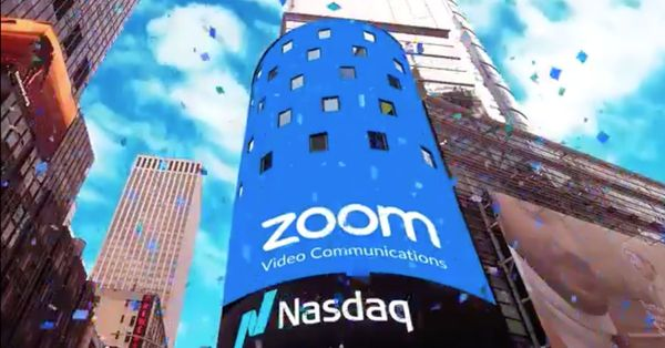 Zoom rocketed 72% on first day of trading