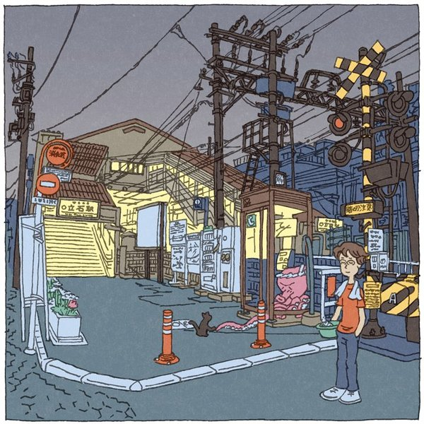 Fantastic Tokyo illustrations by Shinji Tsuchimochi