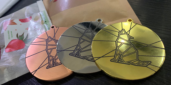 We've got real medals (in sets of 5) for the teams that finish 1st, 2nd and 3rd.
