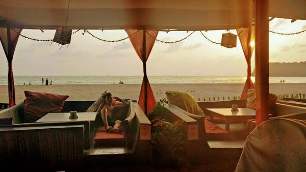 Gabo rejuvenates after a sunny day at Agonda Beach.