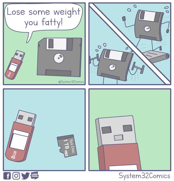 Lose Some Weight Man! - Credit: System32Comics