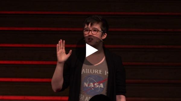 Lyra speaking at TEDxStormont Women