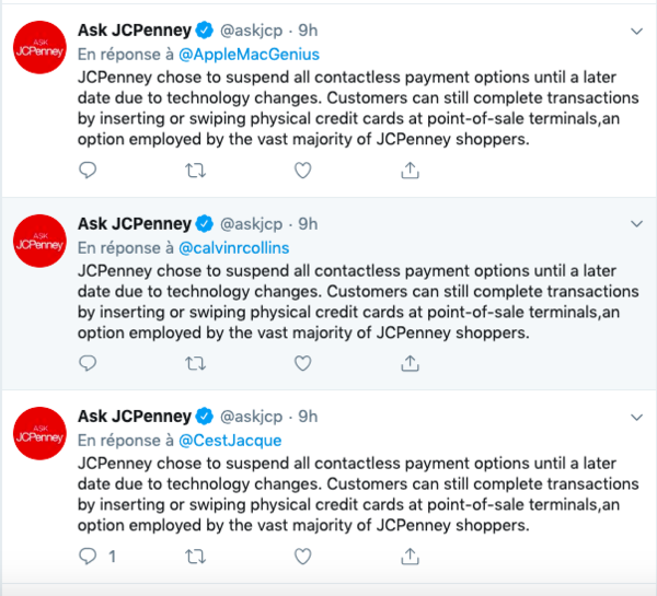 a few of the recent answers JC Penney made on twitter recently