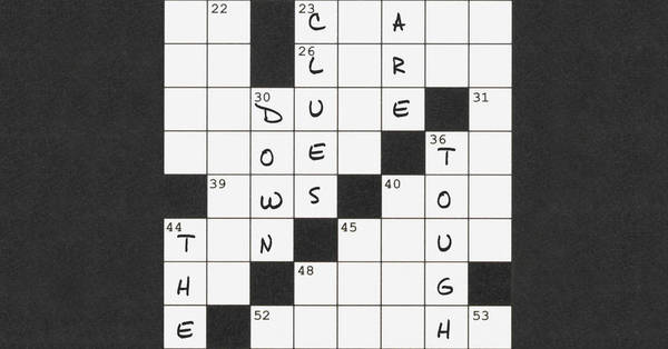 WSJ: Today's Crossword Too Easy? Try Solving Down Clues Only