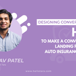 [Designing Conversations] How to Make a Conversational Landing Page for an Auto Insurance Provider
