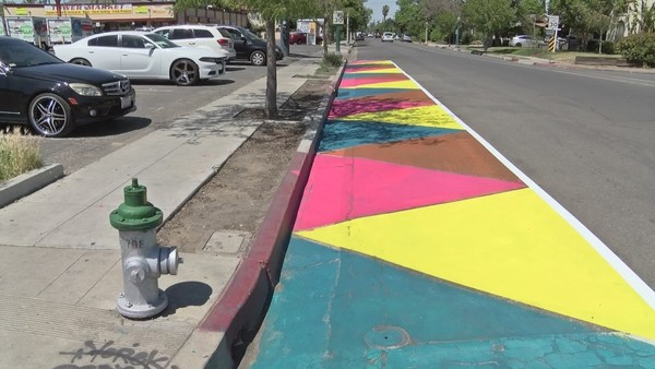 Have you seen this colorful street in the Tower District? Fresno is trying something new