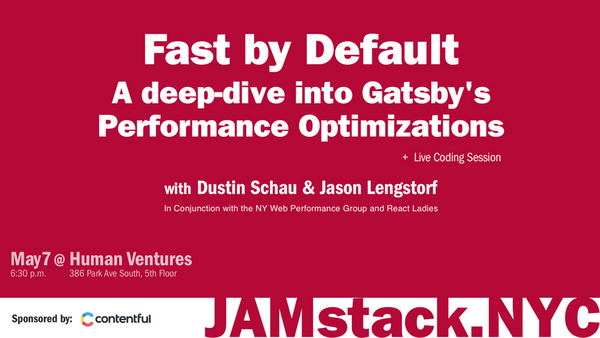 Fast by Default: A deep-dive into Gatsby's Performance Optimizations | Meetup