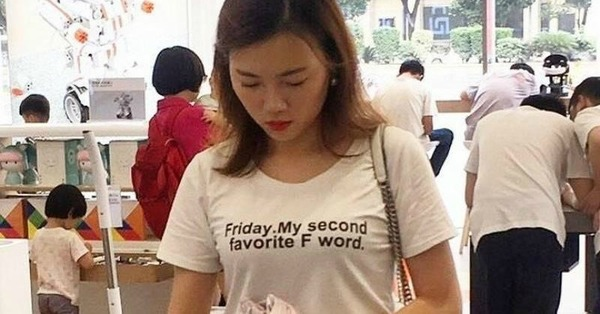 27 Chinezen die waarschijnlijk niet begrijpen wat er op hun T-shirt staat