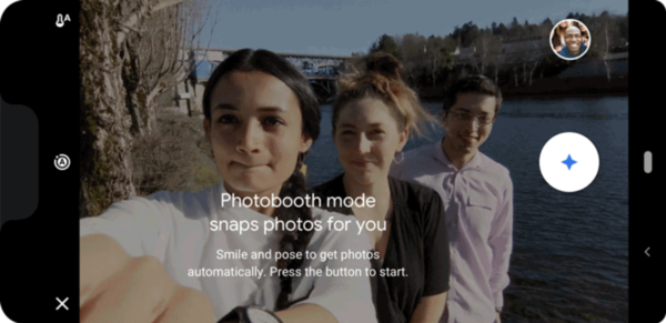 """Photobooth automatically captures group shots, when everyone in the photo looks their best."" (Google)"