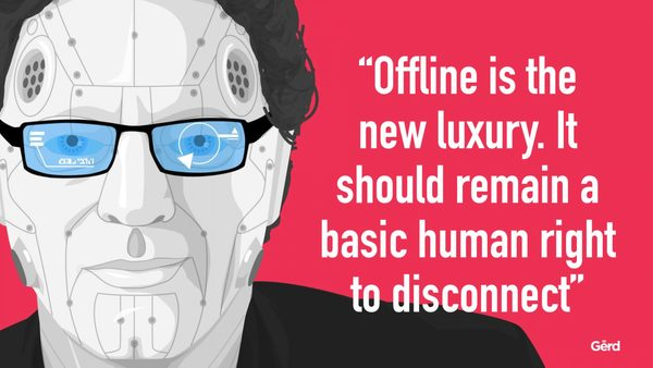 Human Contact is now a Luxury Good - Offline is the new Luxury