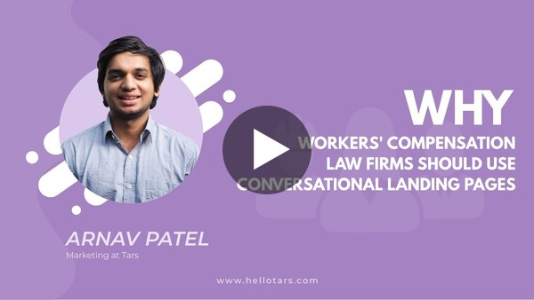 Why Workers' Compensation Law Firms should use Conversational Landing Pages
