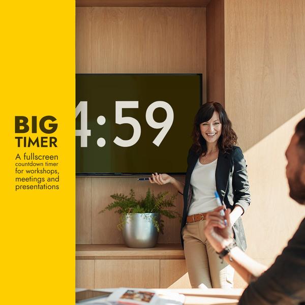 Big Timer — A Fullscreen Countdown Timer
