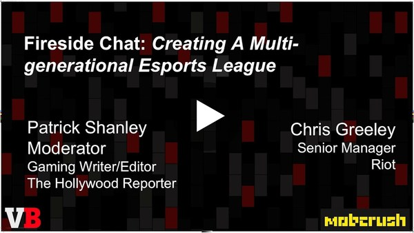 """""""Creating a Multi-generational eSports League"""" with Chris Greeley, Senior Manager of Esports League Operations at Riot Games"""