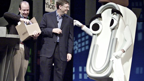 "Clippy: ""Hey Bill! We're gonna be BFFs, right?""  Bill: ""Right..."""