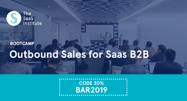 Learn the latest tips on how to build a process that boosts your SaaS B2B Sales. Save 30% with the code: BAR2019