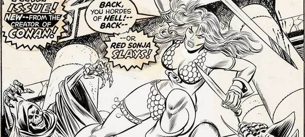 Kane/Romita - Red Sonja Original Cover Art