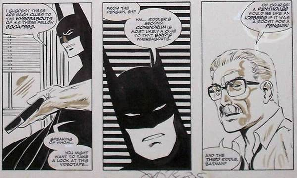 John Byrne - Batman Original Art