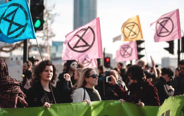 Klimaatmars in Londen
