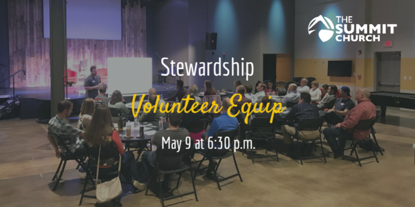 Do you serve in the Summit's Stewardship Ministry or would you like to learn more? Join us this Thursday! Click the image above for more details and to RSVP.