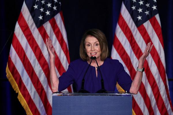De Democratische leider Pelosi heeft geen zin in een impeachmentprocedure (foto: Reuters)