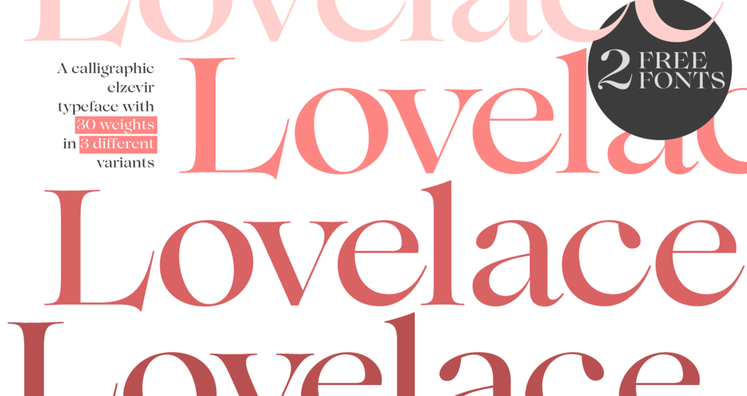 All styles of Lovelace are 75% off, with two free