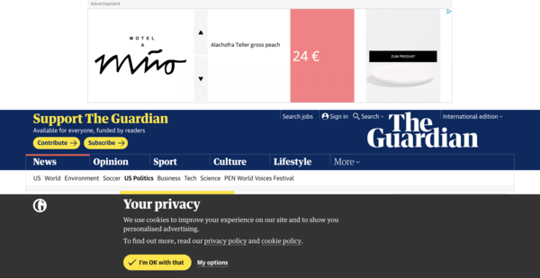 How the GDPR and Online Marketing are destroying the user experience.