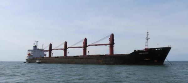 De Amerikanen namen dit Noord-Koreaanse vrachtschip in beslag (foto: Reuters)