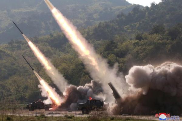 Noord-Korea lanceerde deze week korte-afstandsraketten (foto: KCNA)
